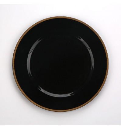 Altom Podkładka pod talerz/ na stół czarna 33 cm